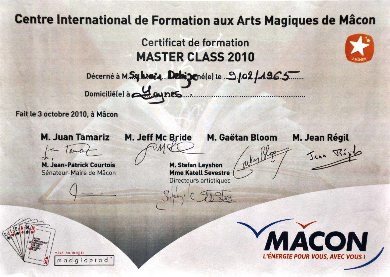 Mâcon Master Class 2010,